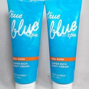 TWO BATH BODY WORKS TRUE BLUE SPA SHEA CREAM